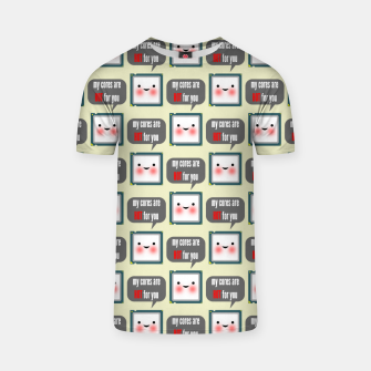 Miniaturka Cute geeky blushing CPU My cores are hot for you pattern T-shirt, Live Heroes