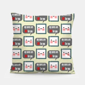 Thumbnail image of Cute geeky blushing CPU My cores are hot for you pattern Pillow, Live Heroes