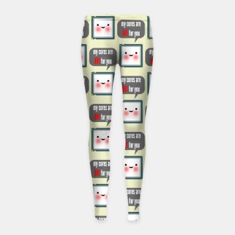 Miniaturka Cute geeky blushing CPU My cores are hot for you pattern Girl's leggings, Live Heroes