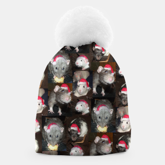 Thumbnail image of Santa rats collage Beanie, Live Heroes