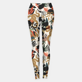Thumbnail image of Abstract snakes shapes nature 63 Leggings, Live Heroes