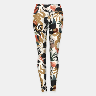 Miniaturka Abstract snakes shapes nature 63 Leggings, Live Heroes