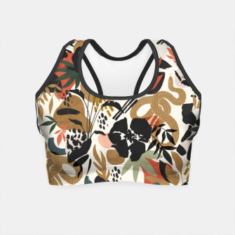 Miniaturka Abstract snakes shapes nature 63 Crop Top, Live Heroes