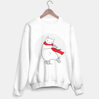 Thumbnail image of The dance of joy on a snowy day Sweater regular, Live Heroes