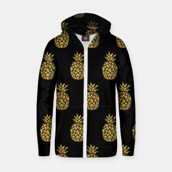 Miniature de image de Golden Pineapple Tropical Fruit Fruit Lover Gifts Summer Zip up hoodie, Live Heroes