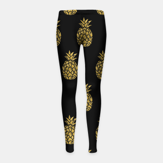 Miniature de image de Golden Pineapple Tropical Fruit Fruit Lover Gifts Summer Girl's leggings, Live Heroes