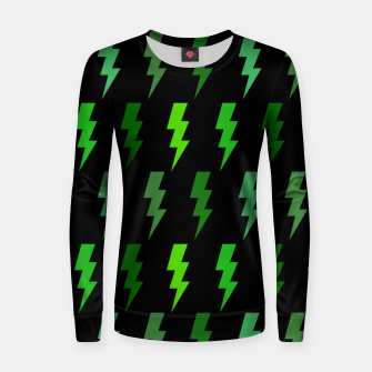 Miniature de image de Green Lightning Bolt Electric Storm Thunder Gifts Women sweater, Live Heroes