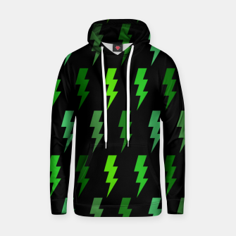 Miniature de image de Green Lightning Bolt Electric Storm Thunder Gifts Hoodie, Live Heroes
