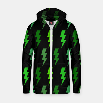 Miniature de image de Green Lightning Bolt Electric Storm Thunder Gifts Zip up hoodie, Live Heroes