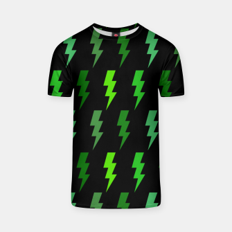 Miniature de image de Green Lightning Bolt Electric Storm Thunder Gifts T-shirt, Live Heroes