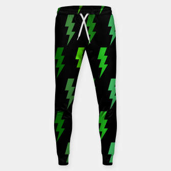 Miniature de image de Green Lightning Bolt Electric Storm Thunder Gifts Sweatpants, Live Heroes