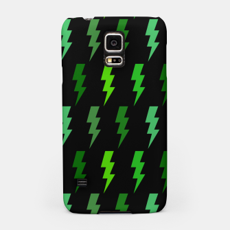 Miniature de image de Green Lightning Bolt Electric Storm Thunder Gifts Samsung Case, Live Heroes