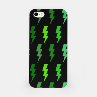 Miniature de image de Green Lightning Bolt Electric Storm Thunder Gifts iPhone Case, Live Heroes
