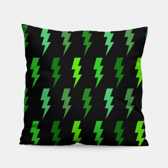 Miniature de image de Green Lightning Bolt Electric Storm Thunder Gifts Pillow, Live Heroes