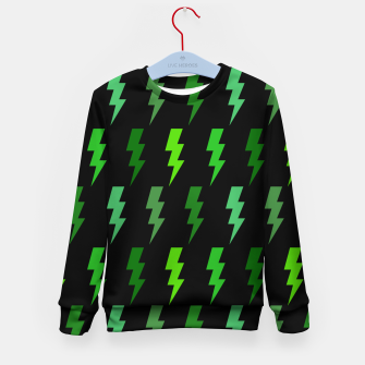 Miniature de image de Green Lightning Bolt Electric Storm Thunder Gifts Kid's sweater, Live Heroes