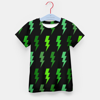 Miniature de image de Green Lightning Bolt Electric Storm Thunder Gifts Kid's t-shirt, Live Heroes