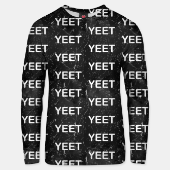 Thumbnail image of Yeet Expression Black Marble Exclamation Excitement Unisex sweater, Live Heroes