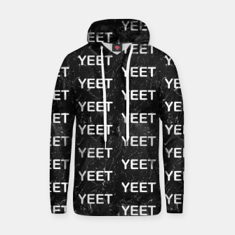 Thumbnail image of Yeet Expression Black Marble Exclamation Excitement Hoodie, Live Heroes