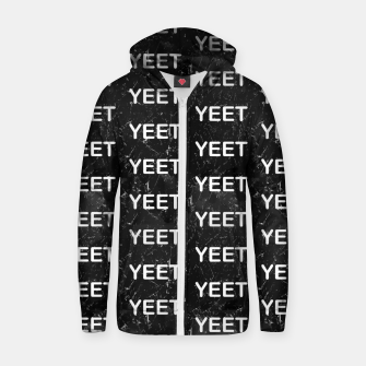 Thumbnail image of Yeet Expression Black Marble Exclamation Excitement Zip up hoodie, Live Heroes