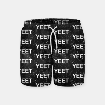Thumbnail image of Yeet Expression Black Marble Exclamation Excitement Swim Shorts, Live Heroes