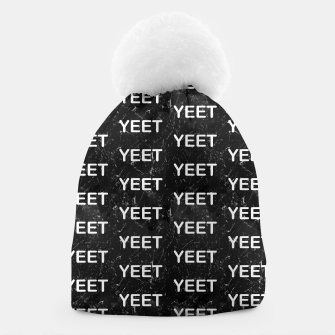Thumbnail image of Yeet Expression Black Marble Exclamation Excitement Beanie, Live Heroes