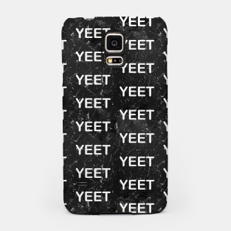 Thumbnail image of Yeet Expression Black Marble Exclamation Excitement Samsung Case, Live Heroes