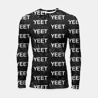 Thumbnail image of Yeet Expression Black Marble Exclamation Excitement Longsleeve rashguard , Live Heroes