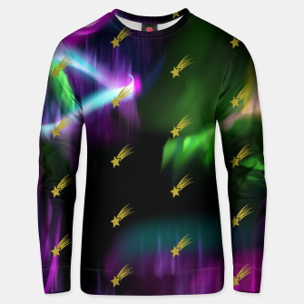 Thumbnail image of Northern Lights Colors Golden Shooting Stars Sky Wish Unisex sweater, Live Heroes