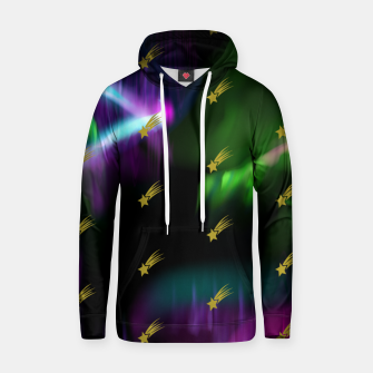 Thumbnail image of Northern Lights Colors Golden Shooting Stars Sky Wish Hoodie, Live Heroes