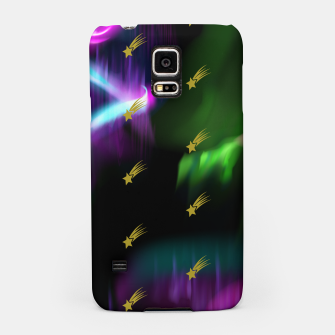 Thumbnail image of Northern Lights Colors Golden Shooting Stars Sky Wish Samsung Case, Live Heroes