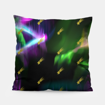 Thumbnail image of Northern Lights Colors Golden Shooting Stars Sky Wish Pillow, Live Heroes