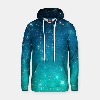 Imagen en miniatura de Starry Night Sky Stars Lovers Astrology Universe Blue Green Hoodie, Live Heroes