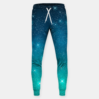 Imagen en miniatura de Starry Night Sky Stars Lovers Astrology Universe Blue Green Sweatpants, Live Heroes