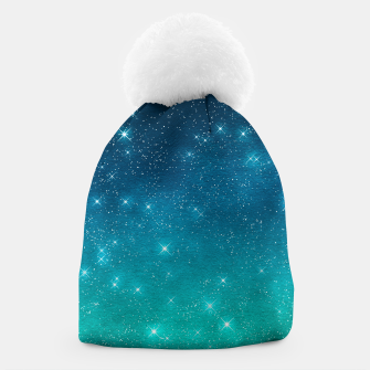 Imagen en miniatura de Starry Night Sky Stars Lovers Astrology Universe Blue Green Beanie, Live Heroes