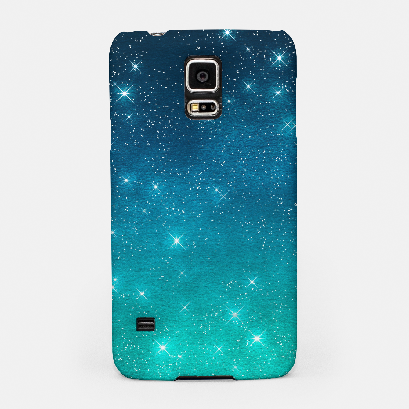 Image of Starry Night Sky Stars Lovers Astrology Universe Blue Green Samsung Case - Live Heroes