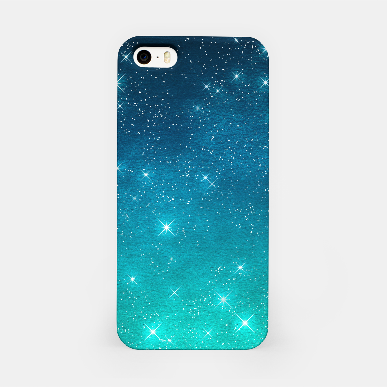 Image of Starry Night Sky Stars Lovers Astrology Universe Blue Green iPhone Case - Live Heroes