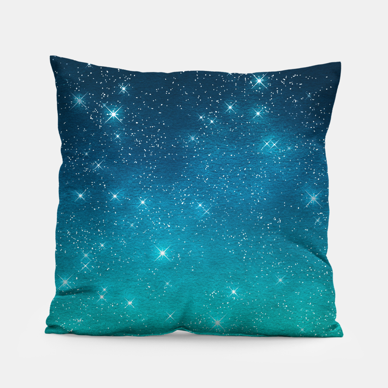 Image of Starry Night Sky Stars Lovers Astrology Universe Blue Green Pillow - Live Heroes