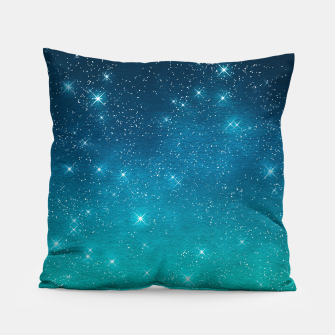 Imagen en miniatura de Starry Night Sky Stars Lovers Astrology Universe Blue Green Pillow, Live Heroes