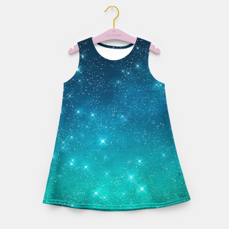 Imagen en miniatura de Starry Night Sky Stars Lovers Astrology Universe Blue Green Girl's summer dress, Live Heroes