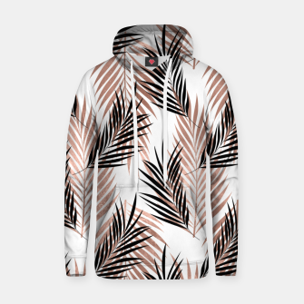 Thumbnail image of Black Golden Rose Palm Leaf Tropical Tree Hawaiian Beach Hoodie, Live Heroes