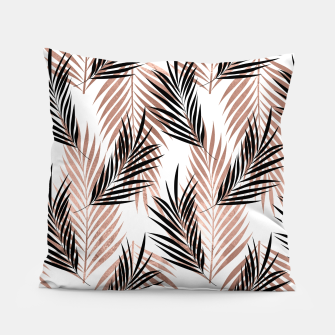 Thumbnail image of Black Golden Rose Palm Leaf Tropical Tree Hawaiian Beach Pillow, Live Heroes