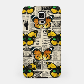 Thumbnail image of Butterflies Warm Color Vintage Newspaper Butterfly Lover Samsung Case, Live Heroes