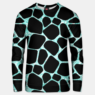 Thumbnail image of Black Stones Bright Turquoise Geometric Forms Abstrac Art Unisex sweater, Live Heroes