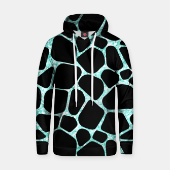 Thumbnail image of Black Stones Bright Turquoise Geometric Forms Abstrac Art Hoodie, Live Heroes