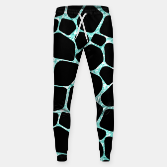 Thumbnail image of Black Stones Bright Turquoise Geometric Forms Abstrac Art Sweatpants, Live Heroes