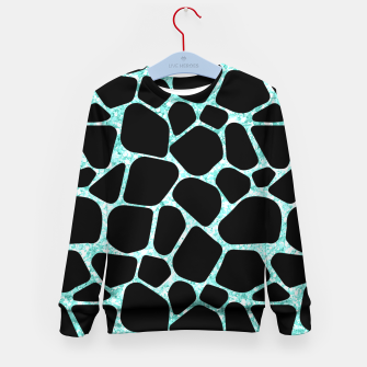 Thumbnail image of Black Stones Bright Turquoise Geometric Forms Abstrac Art Kid's sweater, Live Heroes