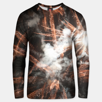 Thumbnail image of Gold fireworks abstract gold black smoke Unisex sweater, Live Heroes