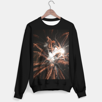 Thumbnail image of Gold fireworks abstract gold black smoke Sweater regular, Live Heroes