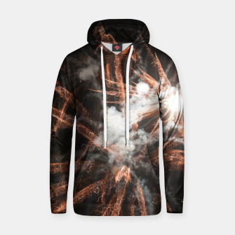 Thumbnail image of Gold fireworks abstract gold black smoke Hoodie, Live Heroes