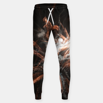 Thumbnail image of Gold fireworks abstract gold black smoke Sweatpants, Live Heroes